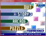 Wind and Water: Puzzle Battles Windows Menu selection screen, select your playing mode between arcade, puzzle and story