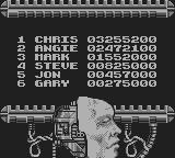 RoboCop 2 Game Boy Highscores