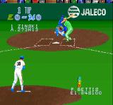 Super Bases Loaded SNES At bat