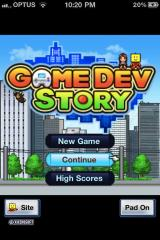 Game Dev Story iPhone Title Screen.