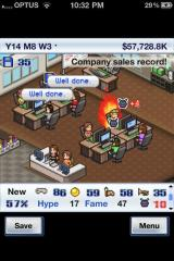 Game Dev Story iPhone Fire! Fire! ... no, wait, never mind, she's just 'on' fire. False alarm, people.