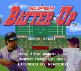 Super Batter Up SNES Title screen