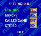 Super Batter Up SNES Game settings