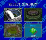 Super Batter Up SNES Select a stadium to play in