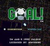 Goal! SNES Title screen