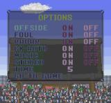 Goal! SNES Game options