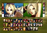 The King of Fighters 2001 PlayStation 2 Character selection.