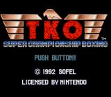 TKO Super Championship Boxing  SNES Title screen