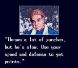 TKO Super Championship Boxing  SNES The trainer giving advice before the fight