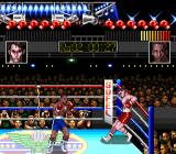 TKO Super Championship Boxing  SNES Knocked down against the ropes