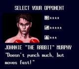 TKO Super Championship Boxing  SNES Selecting an opponent during the 1 player mode