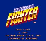 Ultimate Fighter SNES Title screen