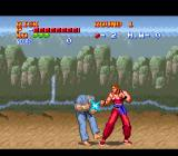 Ultimate Fighter SNES Hitting an enemy