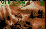 Vulcan: The Tunisian Campaign Atari ST Title and Main Menu