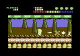 The Equalizer Commodore 64 Level 1 : Here we see the Equalizer zapping baddies with goo from his belly button
