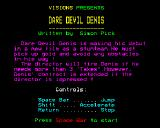 Daredevil Denis BBC Micro Main Menu