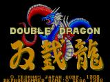 Double Dragon SEGA Master System Title Screen