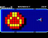 Krakout BBC Micro Start of the first level. You can choose the direction for the ball launch.