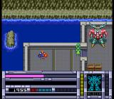 Blood Gear TurboGrafx CD Aref is carrying the unconscious Mei through a port city