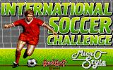 International Soccer Challenge DOS Title screen (VGA)