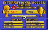 International Soccer Challenge DOS Main menu (VGA)