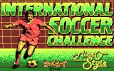 International Soccer Challenge DOS Title screen (CGA)