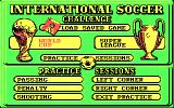 International Soccer Challenge DOS Main menu (CGA)