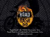 Road Rash 3-D PlayStation Game title with legal stuff