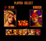 Strip Fighter II TurboGrafx-16 Player Select screen