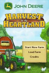 John Deere: Harvest in the Heartland Nintendo DS Main Menu