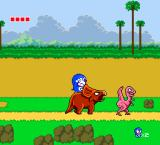 Doraemon: Nobita no Dorabian Night TurboGrafx-16 The triceratops can roar to scare off other dinosaurs.
