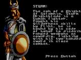 Heroes of the Lance SEGA Master System Sturm