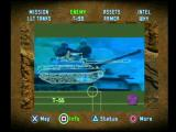 Soviet Strike PlayStation In addition to text, videos can be brought up for enemy and mission data.