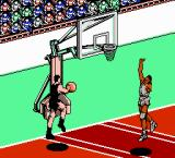 All-Pro Basketball NES Going up for a dunk