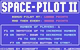 Space Pilot 2 Commodore 64 Main menu