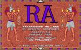 The Curse of RA DOS Main Menu