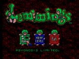 Lemmings SEGA Master System Main Menu