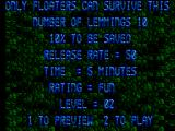Lemmings SEGA Master System Level 2 summary
