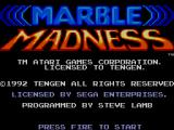 Marble Madness SEGA Master System Title Screen