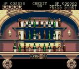 Lethal Enforcers II: Gun Fighters Genesis Bonus stage: Shoot as many bottles as possible within the time limit.