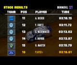 Colin McRae Rally PlayStation Stage results