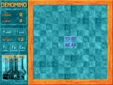 Denomino DOS Game type 2. Place 12 tiles playing against the computer.
