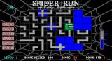 Spider Run DOS Game Over! Solid blue squares are paths that the spider has travelled through, they can't be reused. The spider moved off the bottom of the screen and has reappeared at the top where there's no path