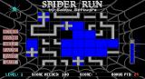 Spider Run DOS This game is going well. The cells the spider has passed through are solid blue. The 'inch counter' on the right shows that when the spider goes off the screen these cells will be reset