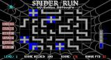 Spider Run DOS The spider has re-entered the game area from the bottom and all cells have been reset. However there are now two blank cells