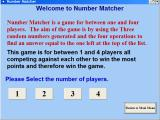 Master Maths Windows The number matcher game is for 1 - 4 people