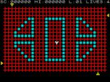 Transversion ZX Spectrum The ships are in place. The four alien ships move independently along their side of the grid. The player is the white ship in the middle