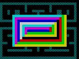 Spectres ZX Spectrum When the player presses a key the game displays a pretty pattern which disappears to slowly reveal the maze.