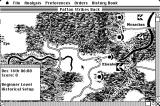 Patton Strikes Back: The Battle of the Bulge Macintosh Battle map - Tactical Display