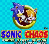 Sonic the Hedgehog Chaos Game Gear Sonic Chaos Title